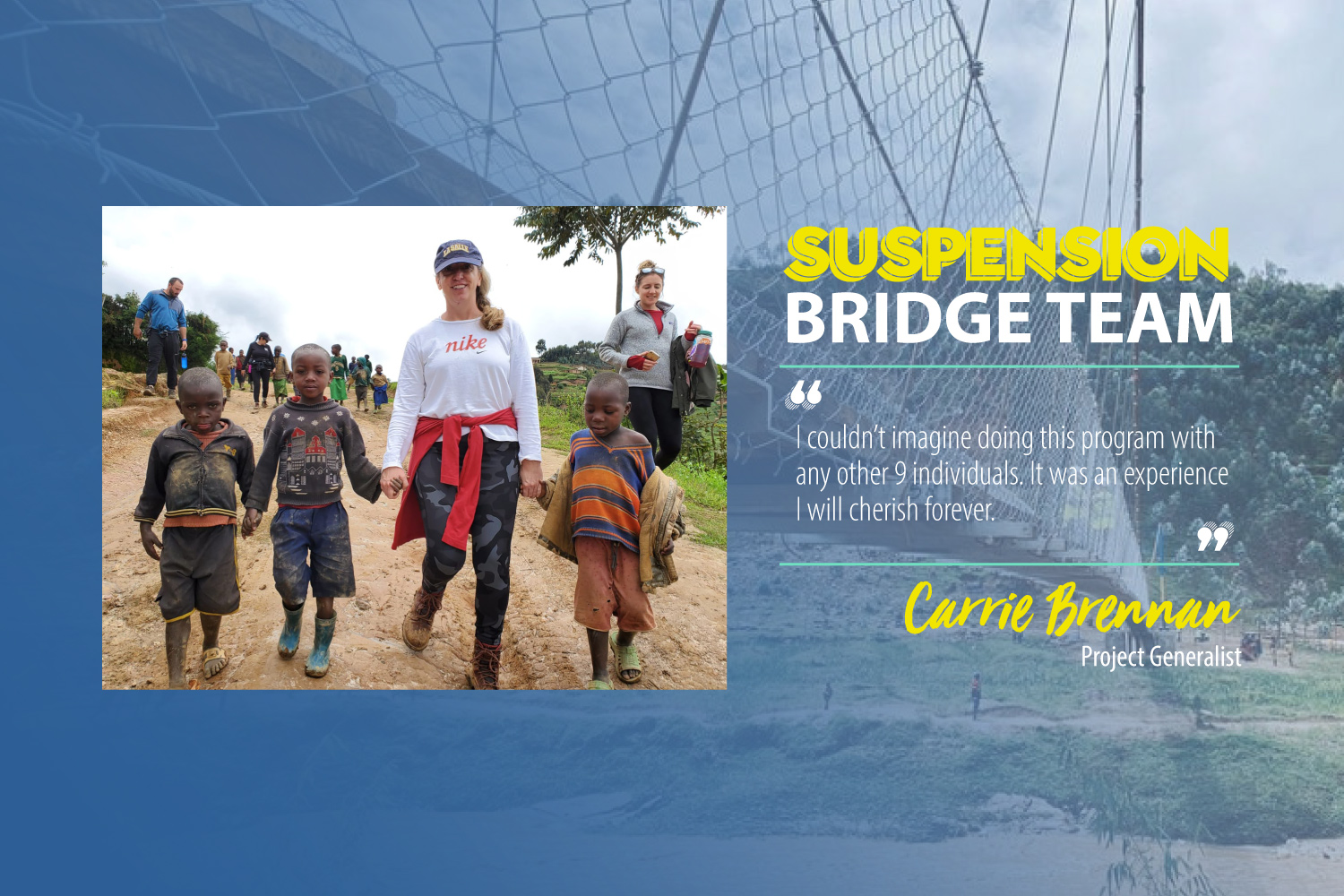 Bridges to Prosperity Spotlight: Carrie Brennan