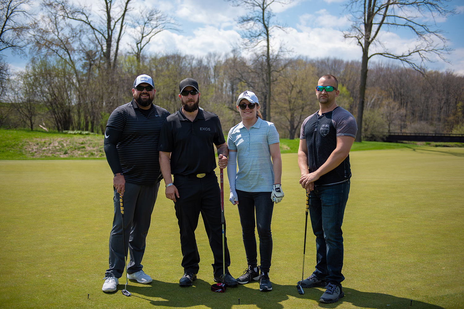 Veterans from Wounded Warrior Project participate in BBCF's annual golf tournament