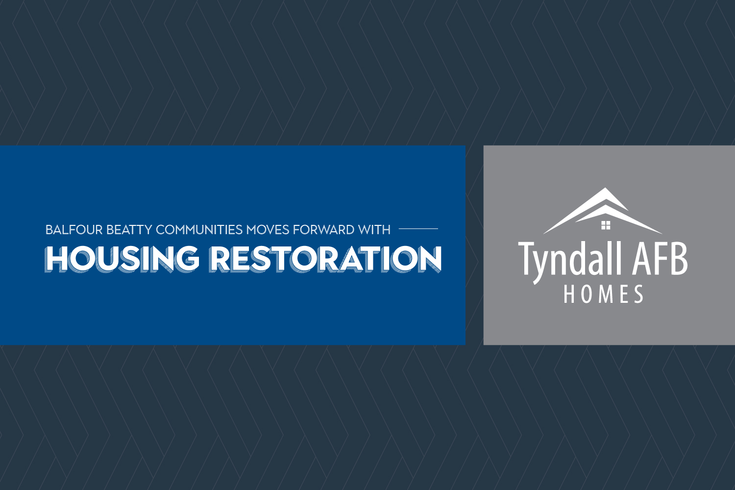 Balfour Beatty Communities moves forward with housing restoration at Tyndall Air Force Base inviting local contractors to submit bids and visit site