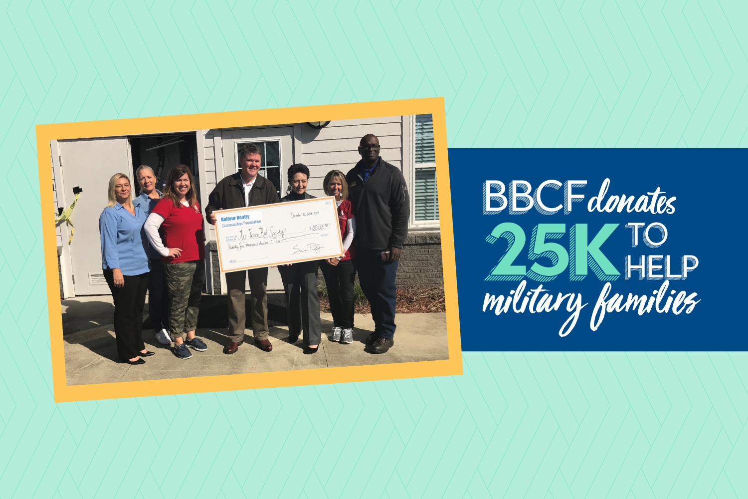 Balfour Beatty Communities Foundation donates $25,000 to help military families at Tyndall Air Force Base following Hurricane Michael