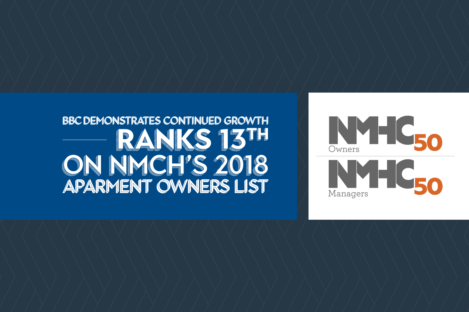Balfour Beatty Communities demonstrates continued growth, ranks 13th on NMHC's 2018 Top 50 Apartment Owners List
