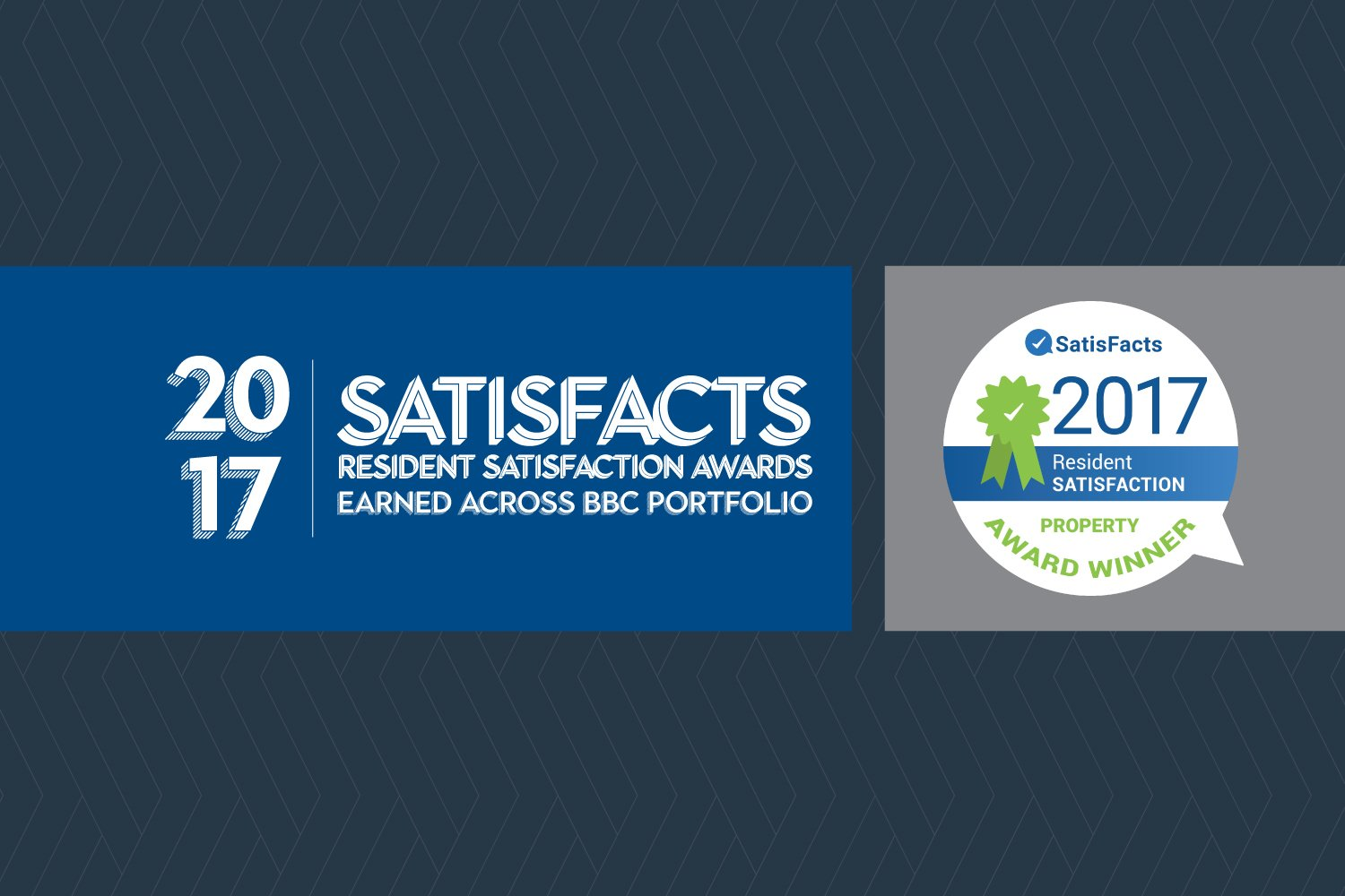2017 Satisfacts Resident Satisfaction Awards earned across Balfour Beatty Communities portfolio